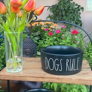 "🐶 Rae Dunn ""DOGS RULE"" Dog 🐶 Bowl / Dish"
